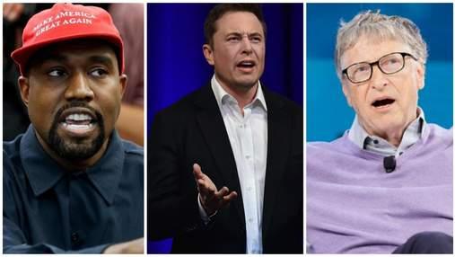 Твиттеры Маска, Уэста и еще полсотни знаменитостей взломали хакеры: о чем они писали