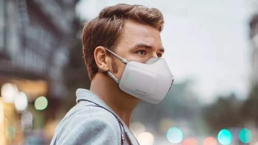 LG представила електронну маску з функцією очищувача повітря