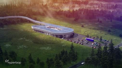 У США побудують тестову станцію Hyperloop: фото фантастичного проєкту