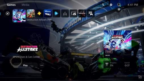 Sony представила пользовательский интерфейс PlayStation 5: видео