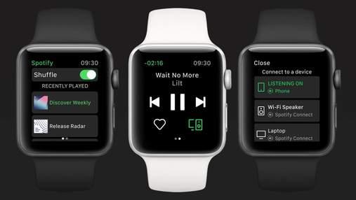Apple Watch сможет запускать музыку в Spotify без подключения к iPhone
