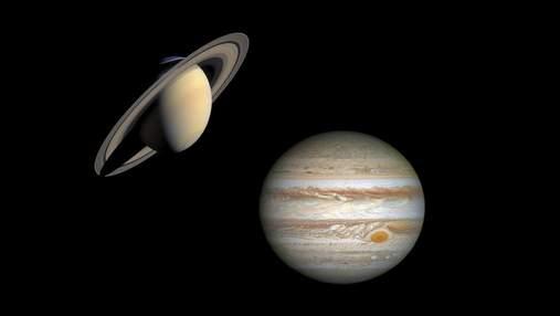 Юпітер і Сатурн рекордно зблизяться у грудні