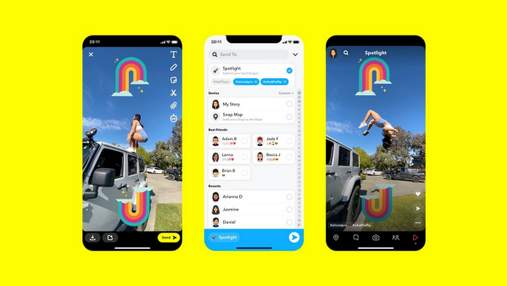 Snapchat запустила конкурента TikTok под названием Spotlight