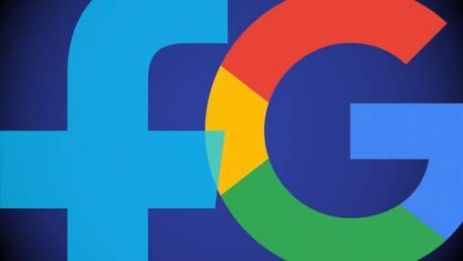 Google і Facebook об'єднуються проти можливих антимонопольних звинувачень