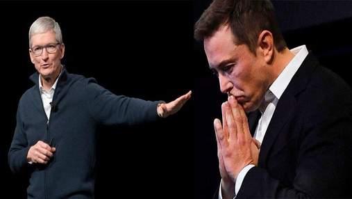 Ілон Маск пропонував Apple купити Tesla: реакція Тіма Кука