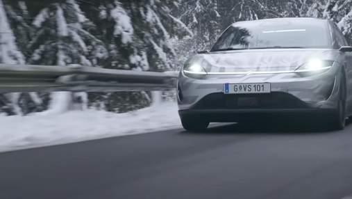 Vision-S: первый электромобиль Sony уже тестируют на европейских дорогах