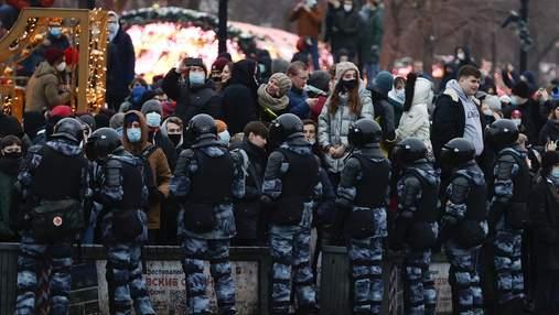 Затримували під час мітингів за Навального: дані силовиків публікують у телеграмі, – ЗМІ