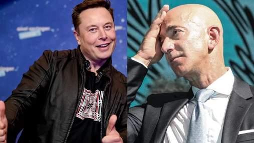 Илон Маск и Джефф Безос поссорились из-за несуществующих спутников