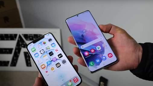 Кто крепче: Galaxy S21 Ultra и iPhone 12 Pro Max испытали в дроп-тесте