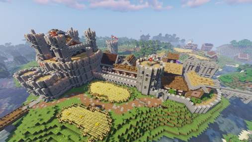 Фанат создал в игре Minecraft поселения с архитектурой разных эпох