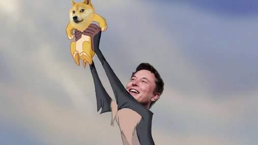Криптовалюта Dogecoin злетіла в ціні після твітів Ілона Маска
