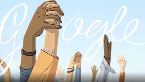 Международный женский день в 2021 году: эмоциональный дудл от Google
