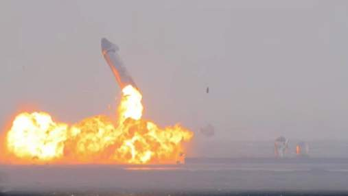 Илон Маск объяснил почему корабль Starship SN10 взорвался после посадки