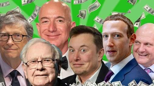 Гонки миллиардеров: Маск, Цукерберг или Безос – кто заработал больше всего во время пандемии