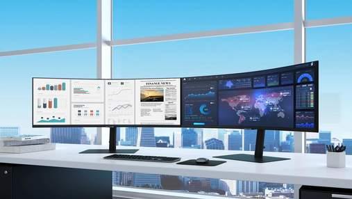 Samsung показала великий вигнутий монітор з роздільною здатністю Ultra WQHD