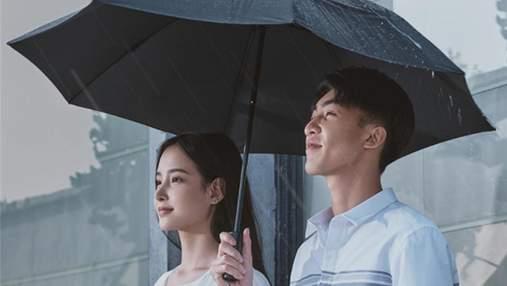 Партнер Xiaomi представил зонт, который автоматически складывается и оборудован фонариком