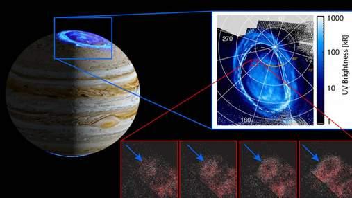 На Юпітері виявили нове дивне світіння