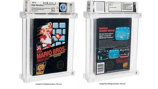 Уникальную копию игры Super Mario Bros. продали на аукционе за 660 000 долларов