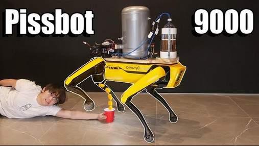 """Робота-собаку Boston Dynamics навчили """"мочитися"""" пивом"""