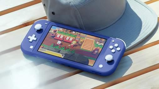 Nintendo представила нову модель Switch Lite в синьому кольорі