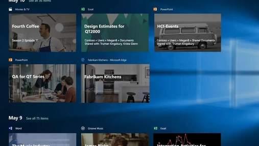 Microsoft удалит временную шкалу с Windows 10