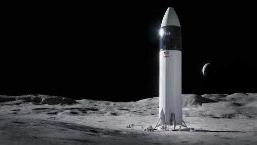 SpaceX высадит людей на Луну: компания выиграла контракт NASA по созданию космического корабля