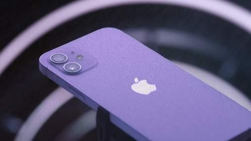 Фиолетовый iPhone 12: Apple представила смартфон в новом цвете