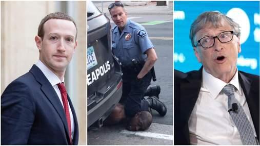 """""""Флойд не повернеться"""": Цукербег, Безос та інші бізнесмени відреагували на вирок вбивці"""