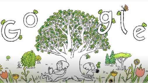 Google в новом дудле призвал украинцев посадить дерево