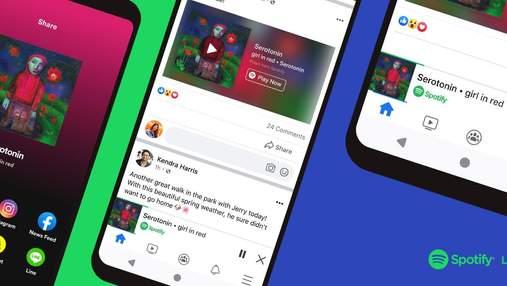 Spotify переезжает в Facebook: в соцсети можно будет слушать музыку и подкасты