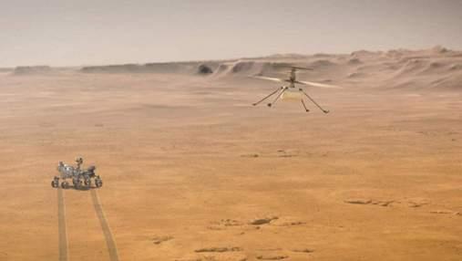 NASA опубликовало первую запись звука полета вертолета Ingenuity на Марсе