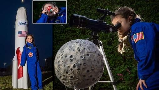 Одержима космосом: семилетняя девочка станет первым ребенком, который отправит предмет на Луну