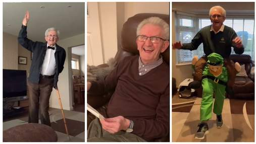 Быстроногий дедушка снимает забавные видео и собирает миллионы просмотров в тиктоке