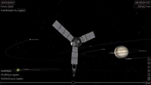 Космический зонд NASA сделает снимки спутника Юпитера – Ганимеда с кратчайшего расстояния