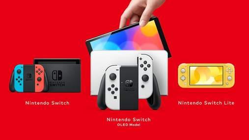 Nintendo офіційно презентувала оновлену Switch OLED model: відома ціна й дата продажів