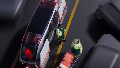 Дизайн будущего: для автомагистралей предложили новый концепт скорой помощи