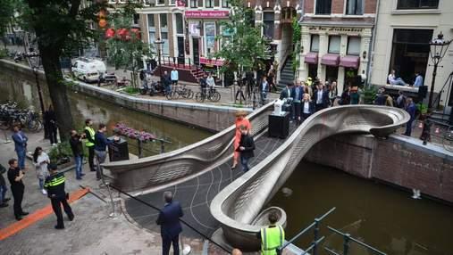 Открывали королева и робот: в Амстердаме появился мост, которому нет аналогов в мире