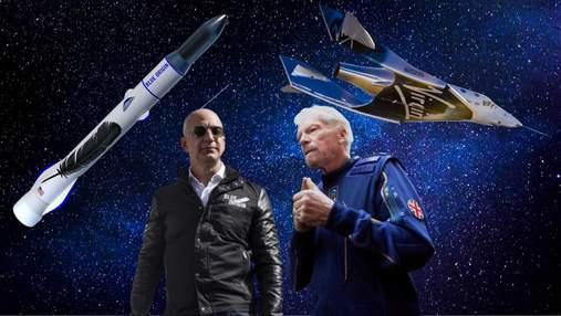 Як політ Blue Origin Джеффа Безоса відрізняється від польоту Virgin Galactic Річарда Бренсона