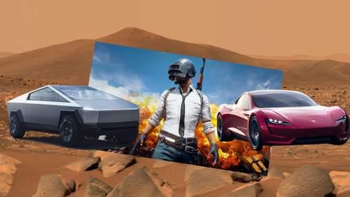 Автомобілі Tesla з'являться в грі PUBG Mobile: Ілон Маск поділився шаленим трейлером