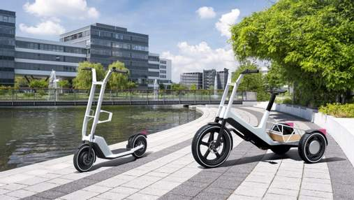 BMW представила дизайн вантажного трицикла і нового електросамоката