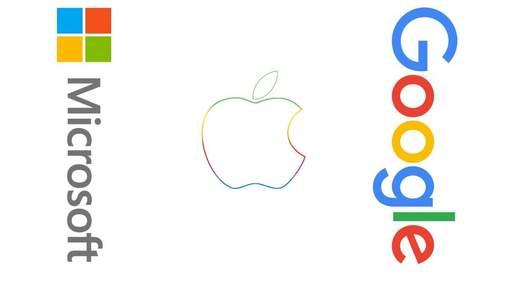 Почти 57 миллиардов долларов: доходы Apple, Google и Microsoft в очередной раз бьют рекорды