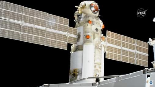 """Модуль """"Наука"""" успешно пристыковался к Международной космической станции"""