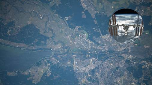 МКС пролетела над Украиной: впечатляющие фото Киева из космоса