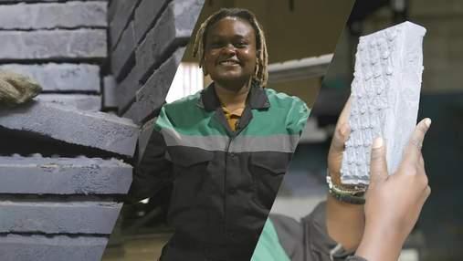Кенійська інженерка виготовляє цеглу з пластикових відходів: вона міцніша, ніж бетон