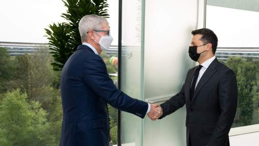 Зеленский в США встретился с гендиректором Apple Тимом Куком
