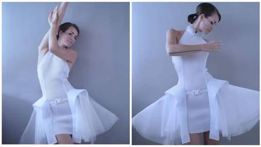 Модельєрка створила інтерактивну сукню, яка допомагає дотримуватися дистанції