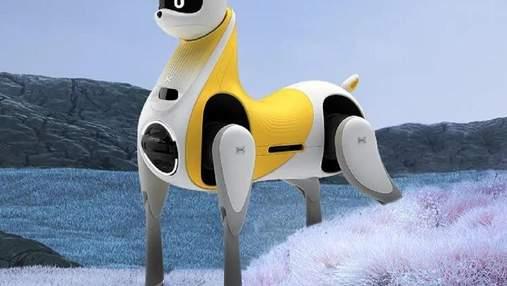 В стиле единорога: в Китае представили роботолошадь, на которой можно ездить