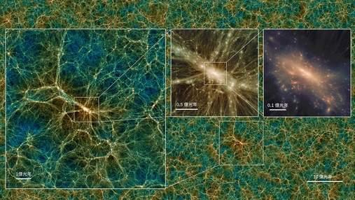 Мільярди світлових років: вчені створили віртуальний всесвіт