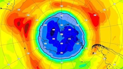 Озонова діра над Південним полюсом перевищила розміри Антарктиди