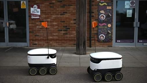 Будущее наступило: как в городке Милтон-Кинз десятки роботов доставляют заказы